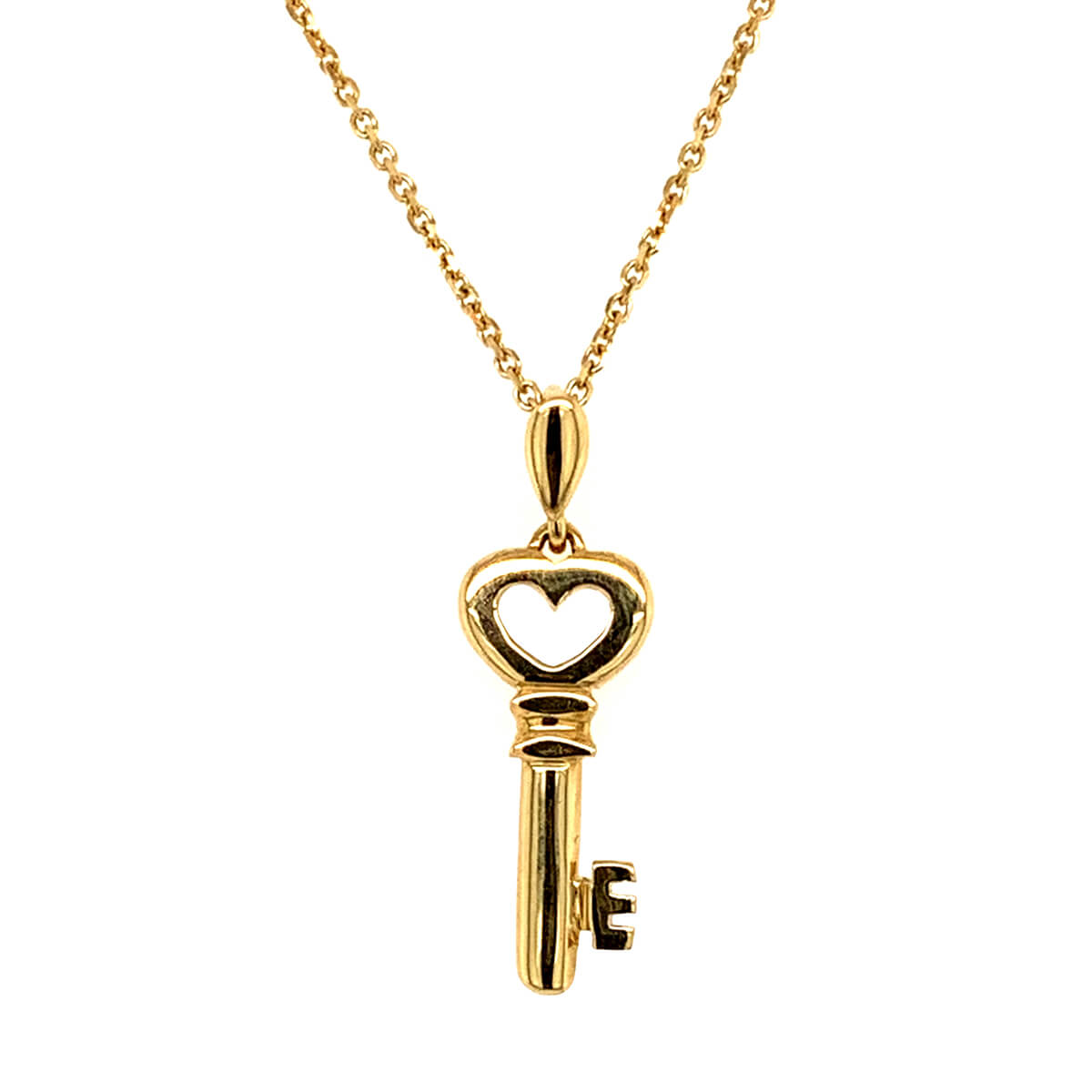 18ct Yellow Gold Key Design Pendant