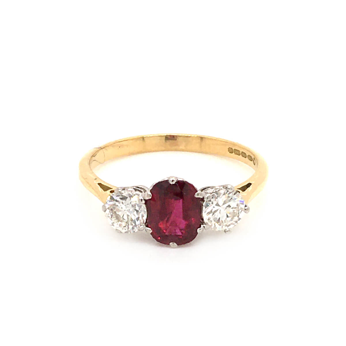 Ruby Diamond Trilogy Ring Cry For The Moon