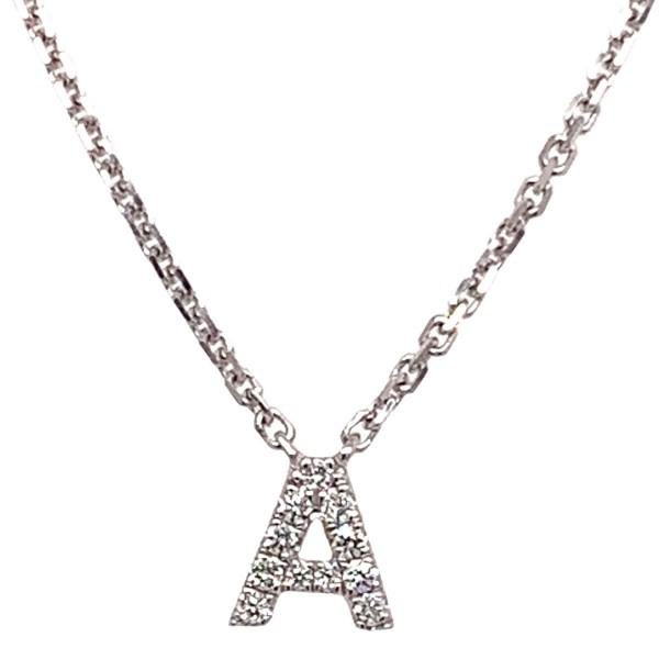 Diamond Initials Pendant