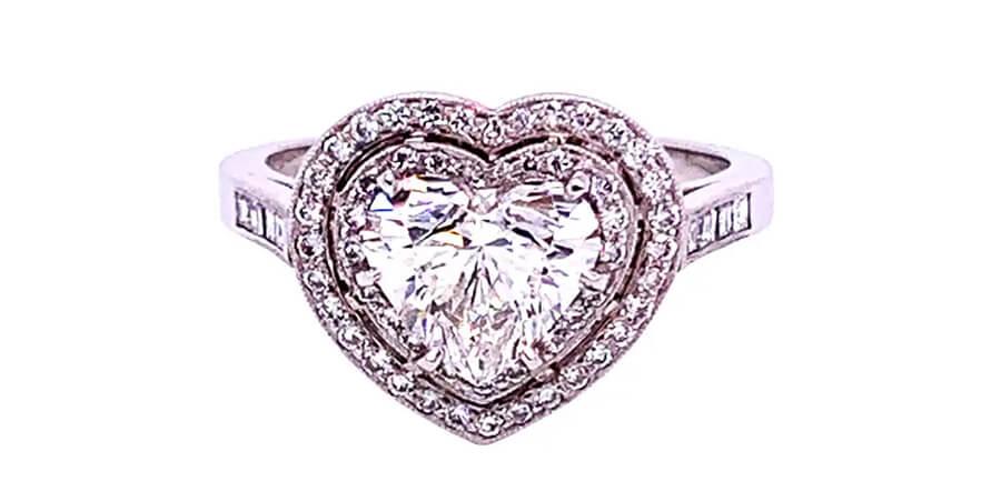 Heart Shaped Diamond Engagement Rings