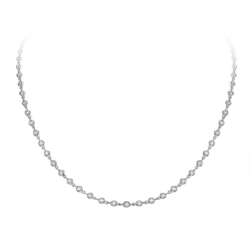 White Gold Spectacle Set Diamond Necklace